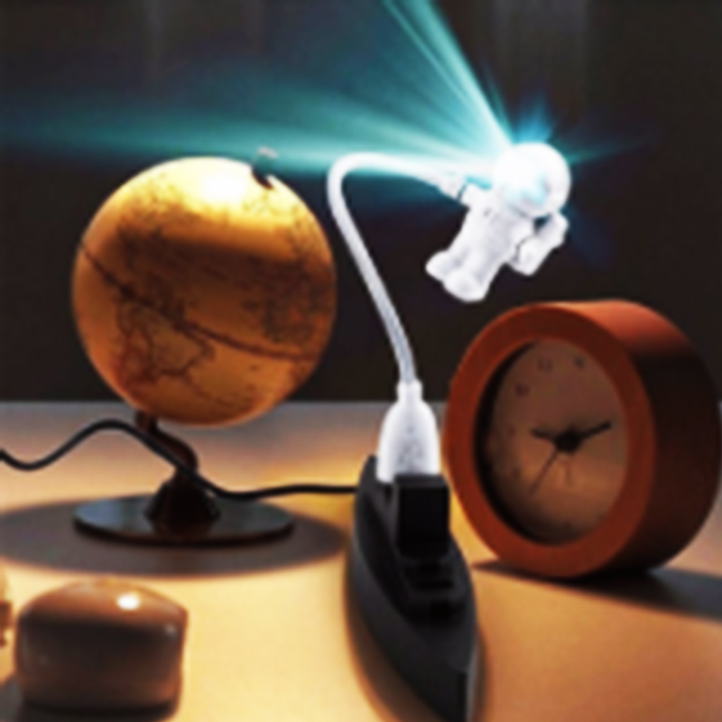 New Mini White DC 5V Flexible Portable Spaceman Astronaut USB Tube LED Night Light Lamp For Computer Laptop PC Notebook Reading