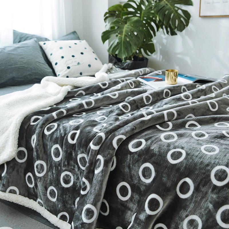 2017New Snowflake Plaids Soft Fleece Blankets Double Layer Thick Winter Plush Throw on Sofa cover Bed Plane Bedspreads 200*230CM