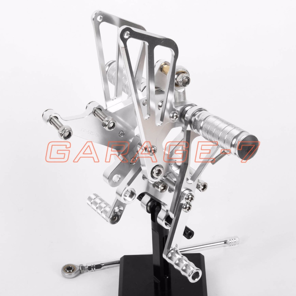 For TRIUMPH DAYTONA 675 2006-2008 2007 Rear Sets Foot Rests Rear Set Hayabusa  Motorcycle Foot Pegs New Silver CNC High Quality