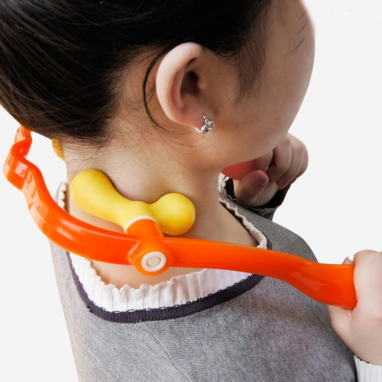 Shiatsu Finger Neck Fitness Massager Body Pain Relief 2 Head Acupressure Home Office Relax Supplies сиденье для унитаза gala nila 51382