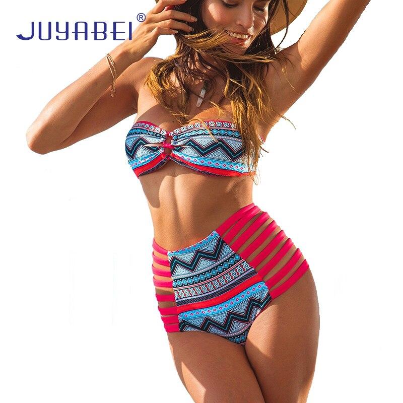 JUYABEI High Waist Bikini Set 2017 Sexy Swimwear Women Push Up Brazilian Bikini Beach Swimming Suit Monokini Plus Size Swimsuit juyabei high waist bikini set 2017 sexy swimwear women push up brazilian bikini beach swimming suit monokini plus size swimsuit