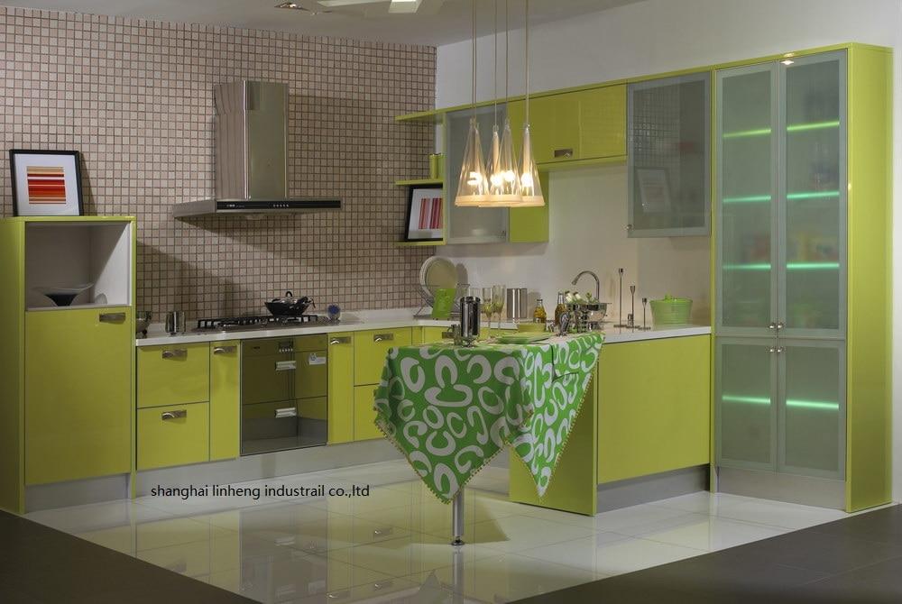Haute brillant/laque armoires de cuisine mordern (LH-LA090)