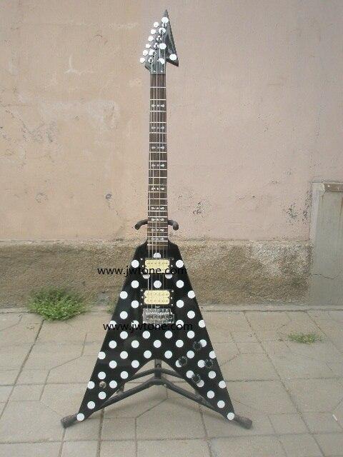 Randy Rhoads Guitare Harpoon Pois Flying V standard électrique Guitare Réplique de Collection
