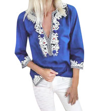 Bohemian Loose Half Sleeve Shirt