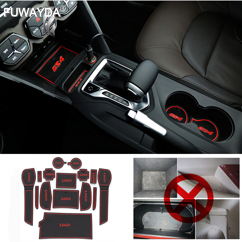 787c8fe8a8353 10 Accessories3D pçs set Para 2008-2016 Nissan Qashqai Tapetes de Borracha  Tapete Do Carro Não-slip Interior Porta Mat Groove