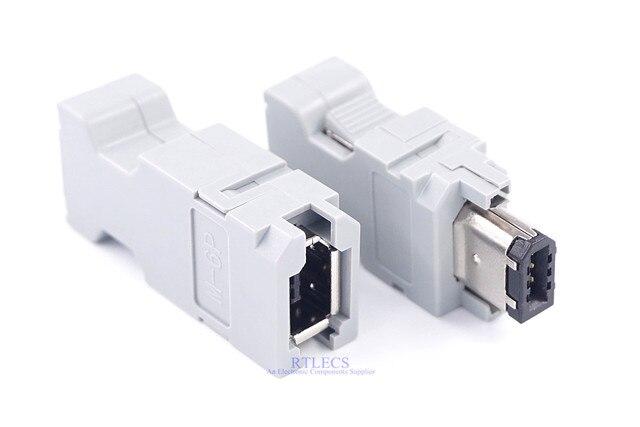 5 pcs זכר נקבה IEEE 1394 6 פין תקע שקע SM 6E SM 6P סרוו מחבר צלב MOLEX 55100 0670 54280  0609 חוט הלחמה