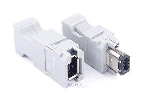 Image 1 - 5 uds hombre mujer IEEE 1394 6 pin enchufe SM 6E SM 6P Servo conector Cruz 55100 0670 54280 0609 de alambre de soldadura
