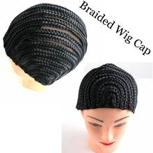 5pcs Black Braided Cap For Crochet Synthetic Braiding Wigs and Weave (Large, Medium, Small size)(China)