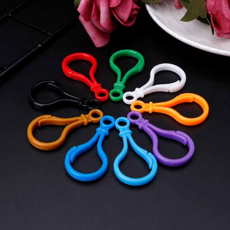 100pcs Plastic Colorful Lamp Shape Buckle Snap Hook Lobster Clasp DIY Needlework Luggage Sewing Handmade Bag Purse Toy Doll Tool100pcs Plastic Colorful Lamp Shape Buckle Snap Hook Lobster Clasp DIY Needlework Luggage Sewing Handmade Bag Purse Toy Doll Tool