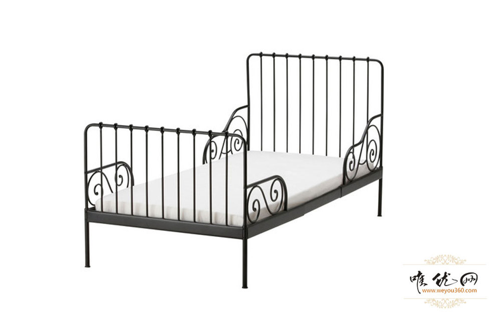 Ikea IKEA niños de cama alquiler modern forjado hierro negro se ...