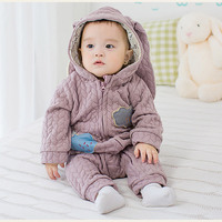 Newborn Clothes Baby Romper Long Sleeve Jumpsuit Baby Girl Costume Winter Baby Clothing Baby Cartoon Jumpsuit with Hooded