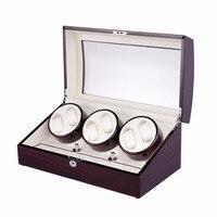 новая версия 6 + 7 часы автоматические часы намотки коробка намотки катушки японии мабучи двигатель с 5 режимов управление деревянный моталки