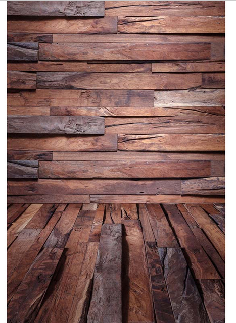 5x7ft Tan Dunkelbraun Holz Paletten Wand Harte Holz Boden Nach Foto