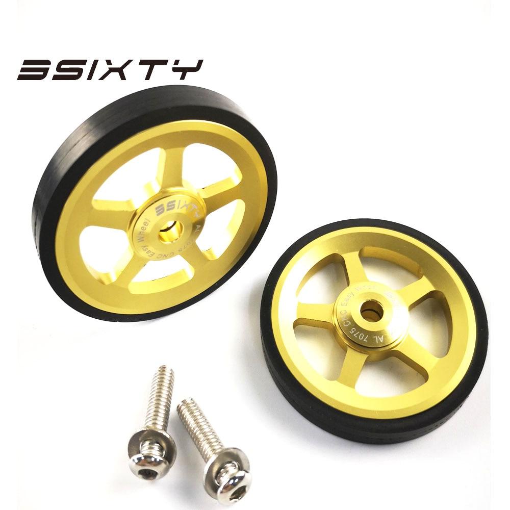 3sixty легко колеса 2шт Easywheel для Brompton складной велосипед сплав супер легкие колеса