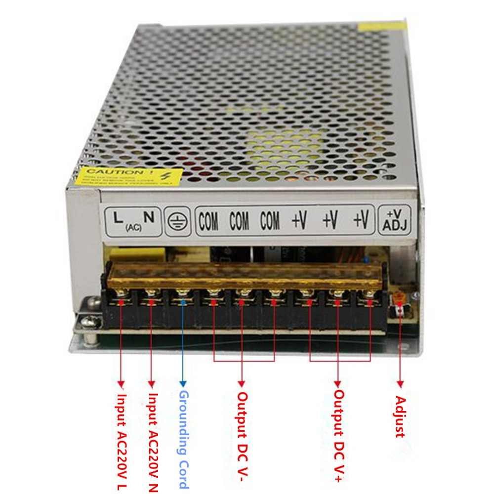 12 V Power Supply 1A/5A/10A/15A/20A/30A Adaptor AC110V 220 V untuk DC12V Transformator untuk LED Strip Lampu