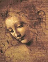 The Head of a Woman Full La Scapigliata by Leonardo Da Vinci Handpainted