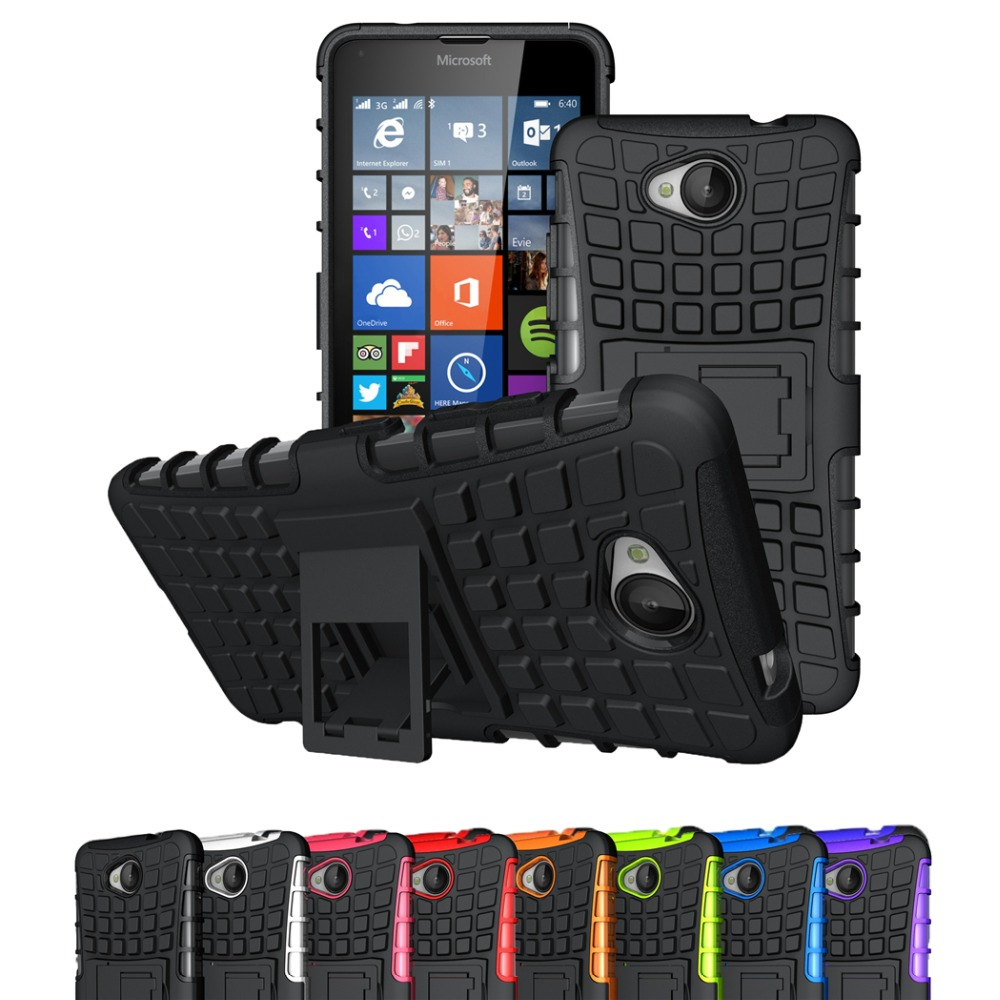 For Microsoft Nokia Lumia 640 650 950 XL 830 Case Hybrid TPU+PC 2 In 1 Hard Armor Shockproof With Stand Function Cover Cases