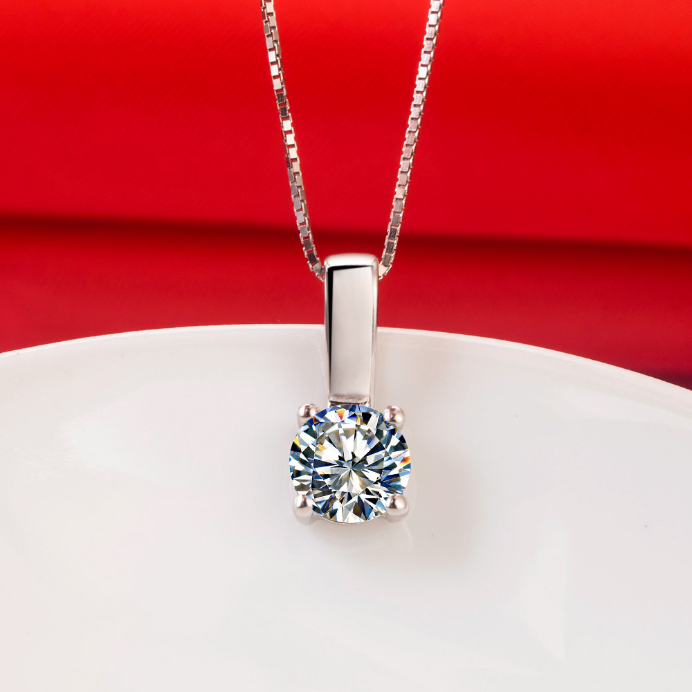 Wholesale pendant prongs classic genuine sterling silver synthetic wholesale pendant prongs classic genuine sterling silver synthetic diamonds pendant women necklace 16inches free sweater chain in pendants from jewelry aloadofball Gallery