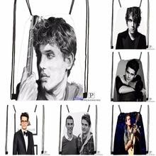 Custom John Mayer Quotes Drawstring Backpack Bag Cute Daypack Kids Satchel (Black Back) 31x40cm#180531-03-80