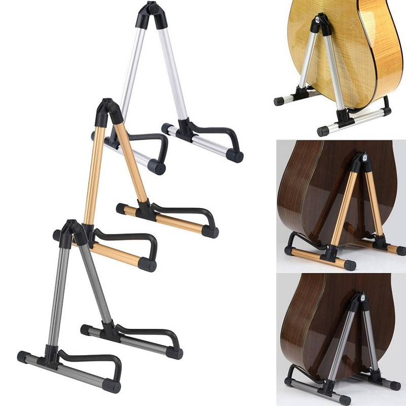Folding Electric Acoustic Bass Guitar Stand Holder For Guitar Violin Stand Holder Floor Universal
