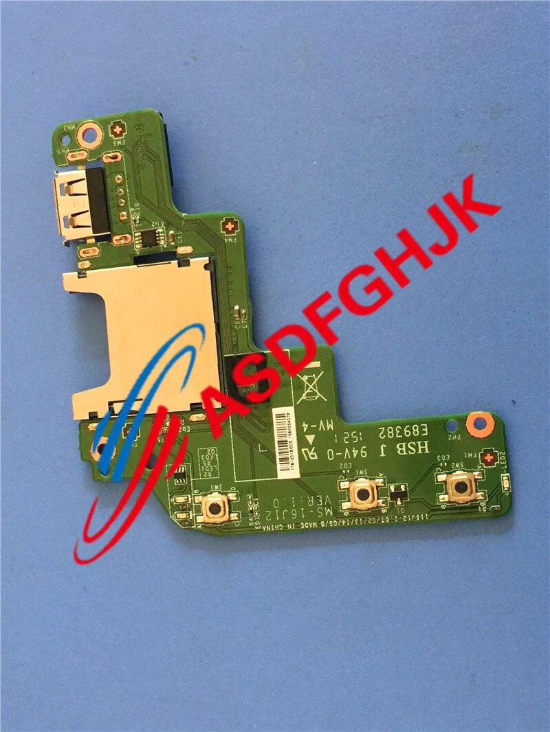 Original for MSI Ge72  GE62 GP72 GP62 Apache Series Card Reader USB Board  Ms-16j12 100% work perfectly msi ge series ge70 apache pro 681 17 3 inch gaming laptop aluminum black