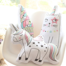 Kawaii Unicorn Plush Toy Soft Icecream Pillow Animal Shaped Doll Baby Kids Bedroom Decoration Kid Christmas Gift Toys
