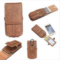 FSSOBOTLUN For BQ BQS 4800 Blade Case Stone Pattern Pu Leather Men Phone Waist Bag Clip
