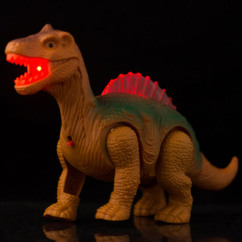 Electric Walking Dinosaur Toys Glowing Dinosaurs with Sound Animals Model  for Kids Children Interactive  Gift mighty electric walking with sound dinosaur toys animals model toys for kids