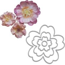 Buy 4Pcs Flower Metal Cutting Dies Stencils DIY Scra online