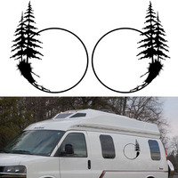 2x Palm Tree One For Each Side Graphic Car Stickers Camper Van RV Trailer Truck Motor