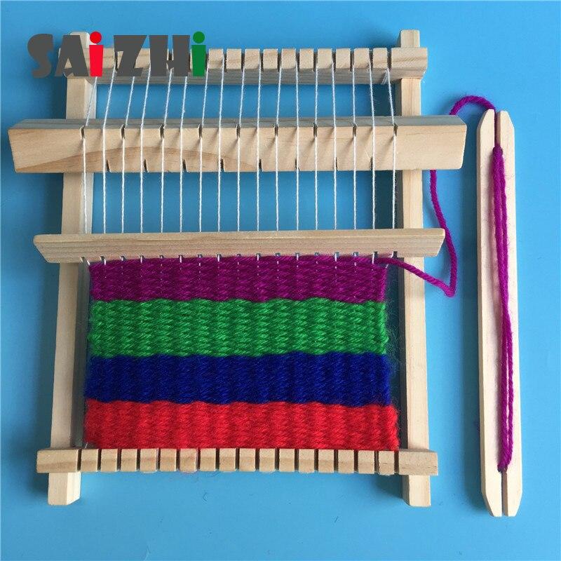 Saizhi Model Toy Diy Machine Wool Knitting Machine Developing Intelligent STEM Toy Physics Experiments Birthday Gift SZ3213