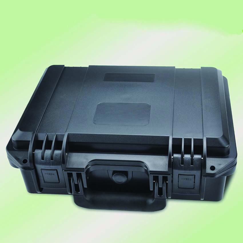 internal 300*200*110mm high impact waterproof PP material suitcase with pick pluck foam sq2620 high impact pp simple plastic tool case with pick pluck foam inside
