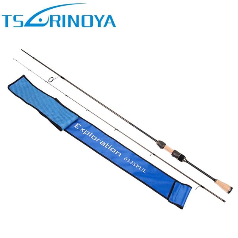 TSURINOYA 1.89m UL Spinning Fishing Rod Solid Tip FUJI Accessories Cork Handle 30T Carbon Spinning Rods Fishing Pole Pesca Olta