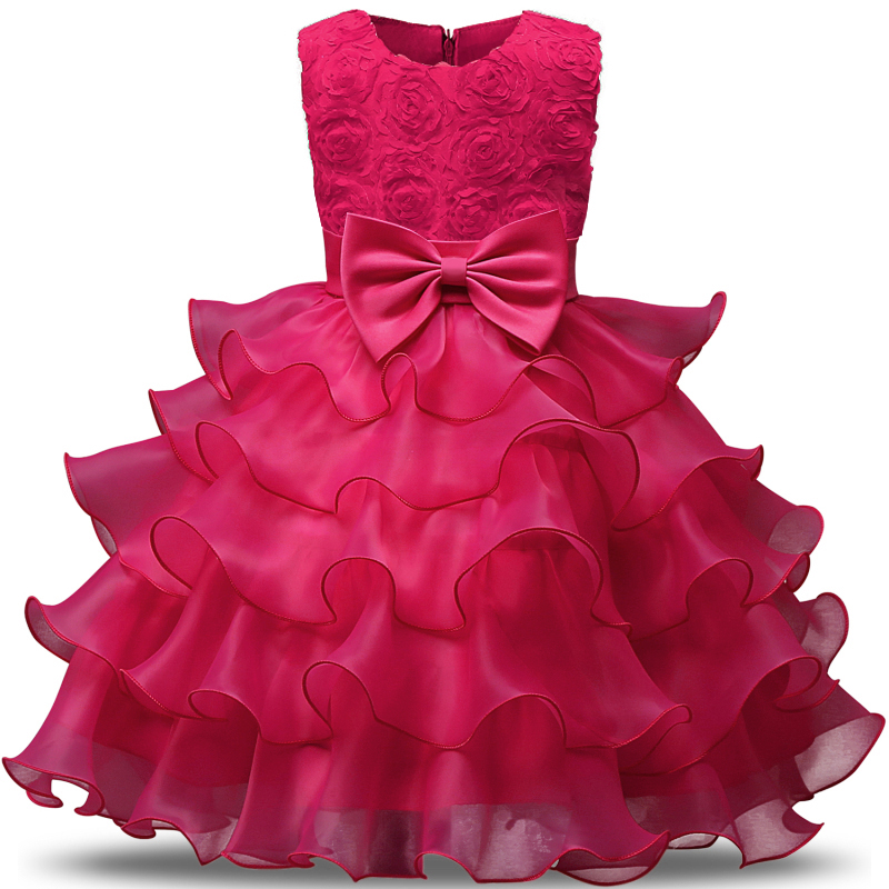 7e775cb312 Biały dziecko płatek sukienka dziewczyny bébés ślubne 1 lat urodziny  księżniczki chrztu sukienki tutu sukienka dzieci sukienki dla dziewczynek  ubrania w ...