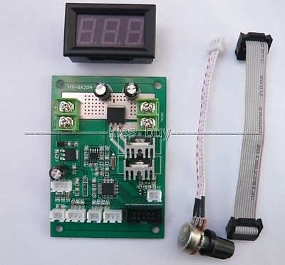 brush motor pwm speed controller with led digital display governor