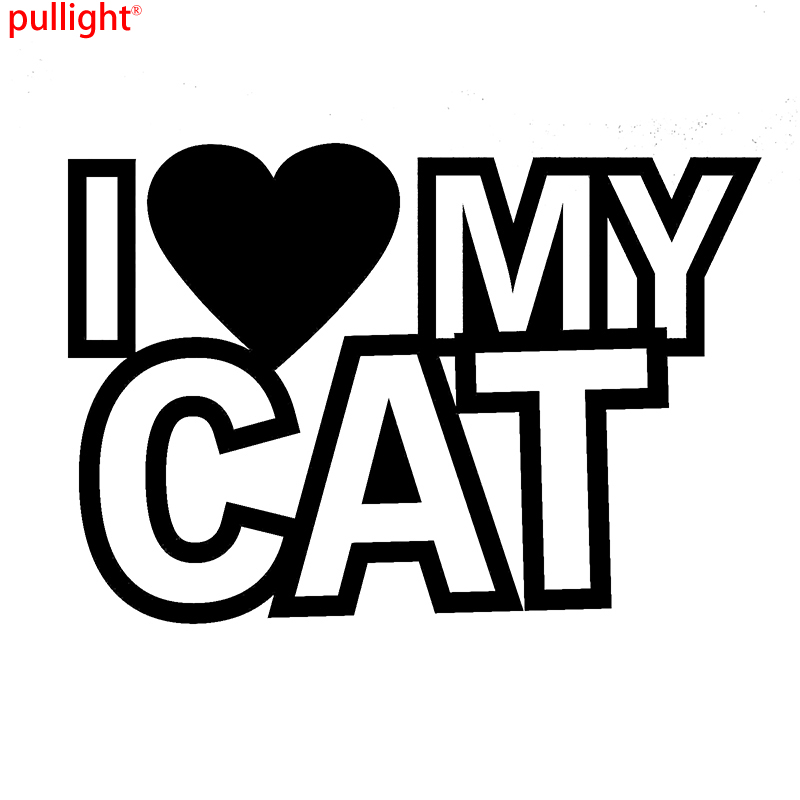 Hot Sell I Love My Cat Funny Car Caravan Window Bumper Vinyl Decal Sticker