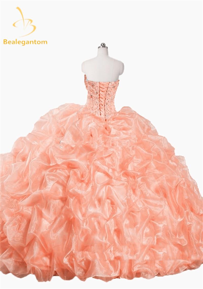 2016 Nieuwe Mooie Roze Wit Quinceanera Jurken Met Jas Met Kralen - Jurken voor bijzondere gelegenheden - Foto 4
