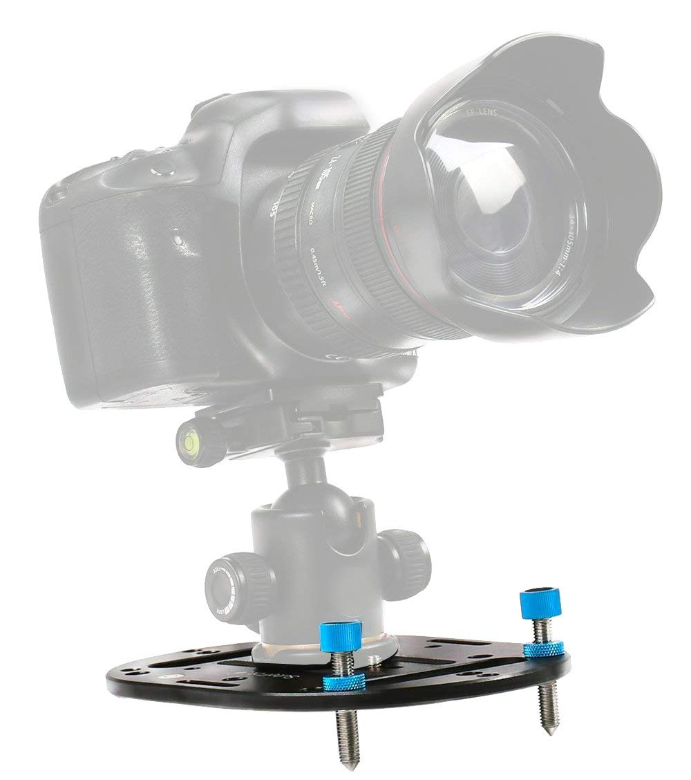 Max mini tripod base for low angle tabletop and travel photography as Platypod Most Compact Mini