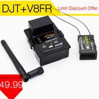 FrSky DJT 2.4 Ghz חבילה משולבת JR/Flysky/Turnigy 9XR w/מודול טלמטריה & V8FR-II RX