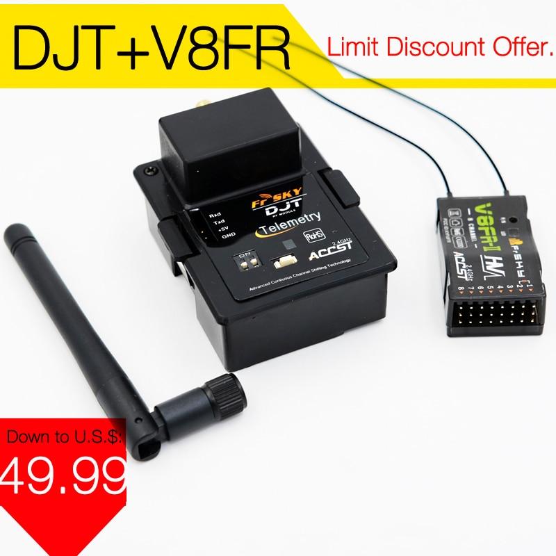 FrSky DJT 2.4Ghz Combo Pack for JR/Flysky/ Turnigy 9XR w/ Telemetry Module & V8FR-II RX недорого