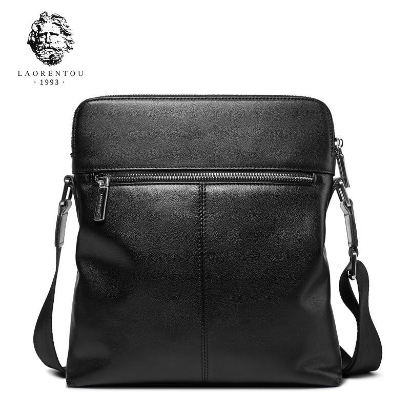 db121d432f0 LAORENTOU2018 new high-quality fashion luxury brand shoulder bag men s  leather cross section Messenger bag header leather busine