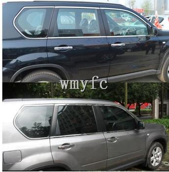 Fit For nissan x-trail t31 Stainless Steel side Window Molding Trim Cover  2008 2009 2010 2011 2012 2013 Auto Accessories