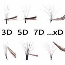 Pandora наращивание ресниц профессиональный 3D 5D 7D 9D 11D объем ресниц(односекундные цветущие ресницы