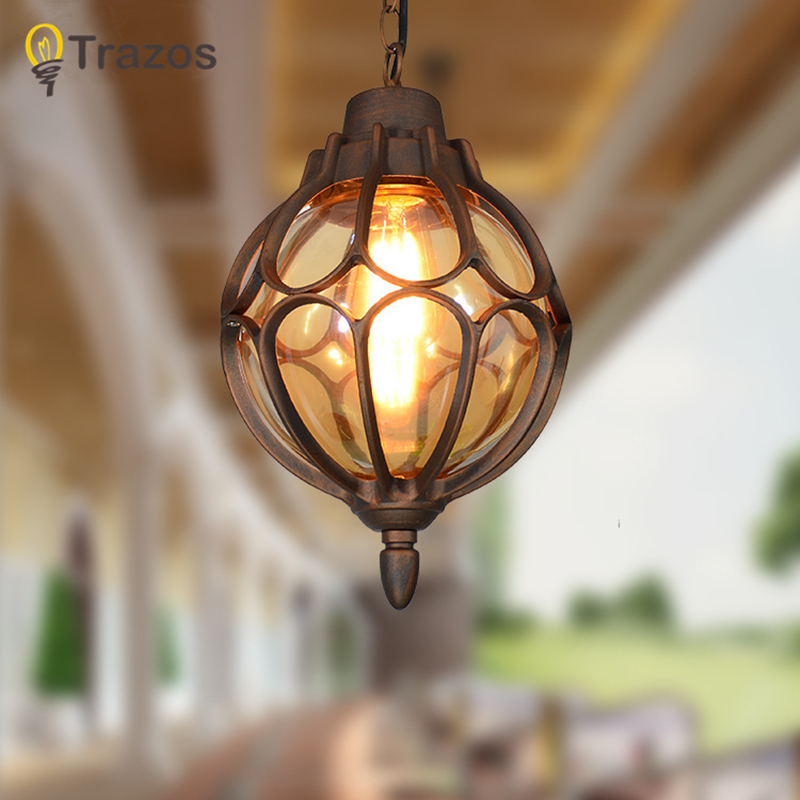 2018 Outdoor LED Pendant Lights buitenverlichting For Porch Balcony Aisle Lamp Corridor Waterproof Glass Pendant Lighting japan korea style antique 3 bulb walkway lamp porch light aisle balcony glass pendant lights copper kitchen entrance lighting