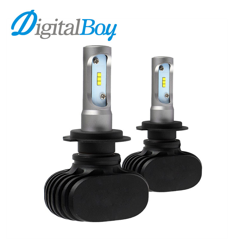 Digitalboy H7 Car LED Headlight Bulbs 50W 8000LM CSP LED Headlamp All in one Headlights Automobile Fog Front Light 12V 6500k