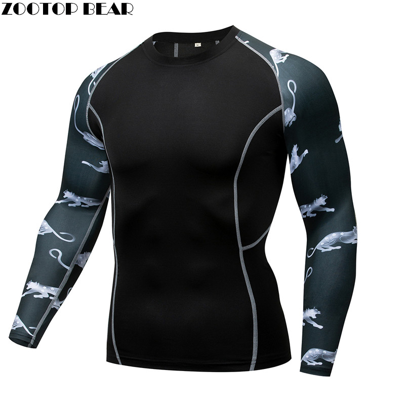 Anima world MMA Compression shirt Men quick dry Elastic Base Layer Skin Tight Weight Lifting Crossfit Top Tee Rash guard Fitness