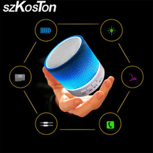 LED MINI Wireless Bluetooth Speaker TF USB Portable Music Sound Box Subwoofer Loudspeaker With Mic For Phone xiaomi iphone 5 6