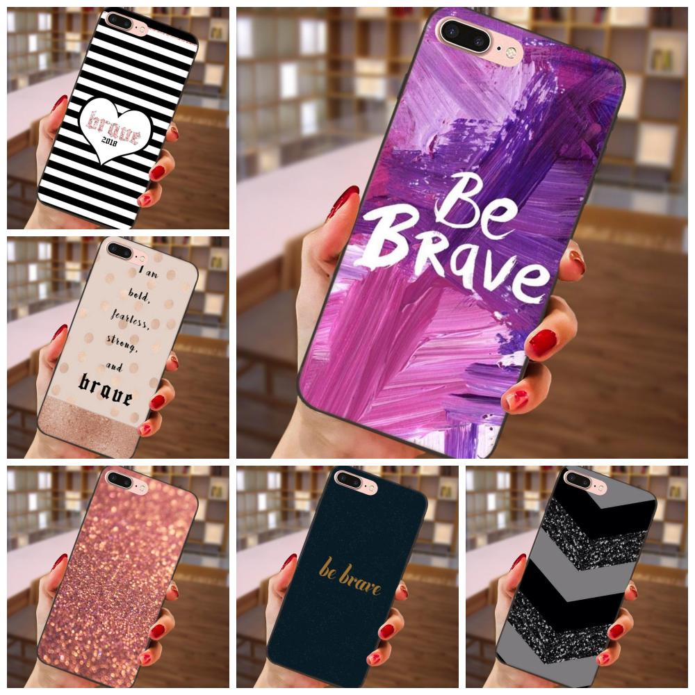 Phone Bags & Cases Cellphones & Telecommunications Quotes Be Brave Stripe Pattern Tpu Phone Capa For Samsung Galaxy A3 A5 A6 A6s A7 A8 A9 Star Plus 2016 2017 2018 Removing Obstruction