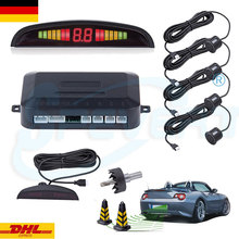SPEVERT 4x LED Parking Sensors Car Reverse Backup Rear Radar Detector System Sound Alarm 12V DC GERMANY STOCK