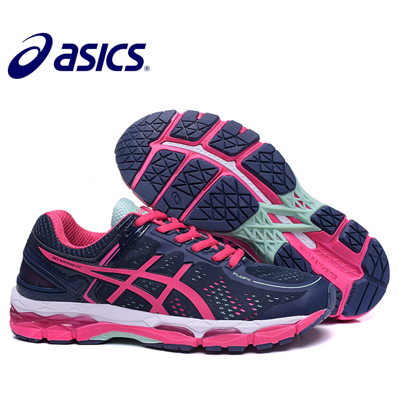 New Arrival ASICS GEL-KAYANO 22 Women's Cushion Sneakers Comfortable Outdoor Athletic Running shoes Hongniu кроссовки asics gel lyte iii c5a4n